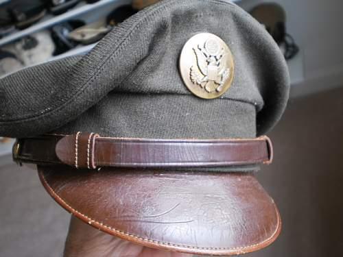 US Enlisted mans visor cap