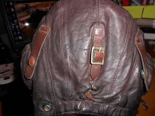 HELP! on leather flying helmet please