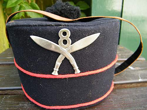 8th Gurkha rifles pillbox hat 1940 dated/WD marked