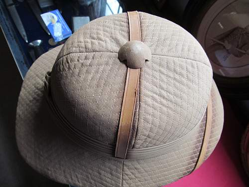Indian pattern pith helmet