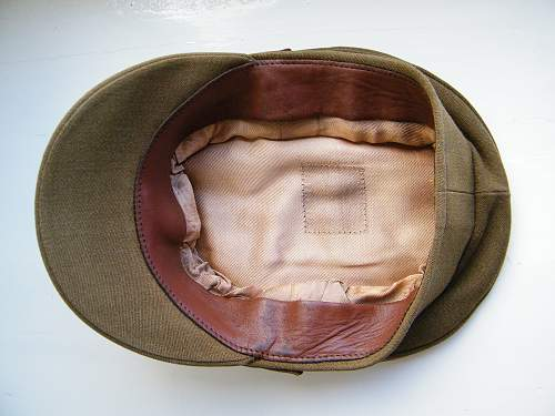 British army officers SD cap