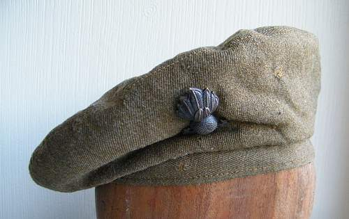 RE officers GS cap with interesting history