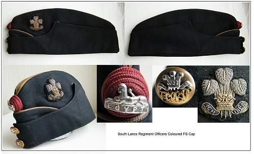 S. Lancs Officers Coloured FS cap