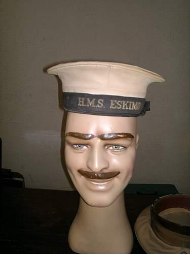 HMS Eskimo Cap and Tally