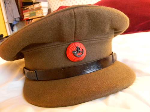 King's Royal Rifle Corps officer's service cap, WWII