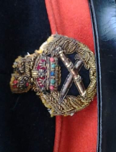 British army generals peaked cap
