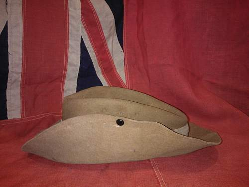 Poor condition British slouch hat