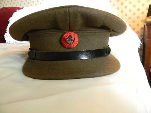 Some WWII era British Army officer visor caps.