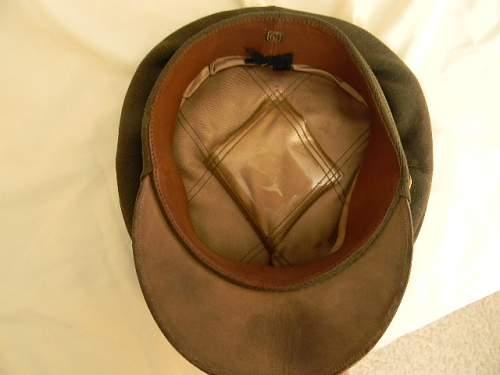 WWII US Army officer dress visor cap