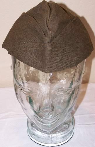 British Made U.S. Wool Garrison Cap- M. Doniger LTD 1944