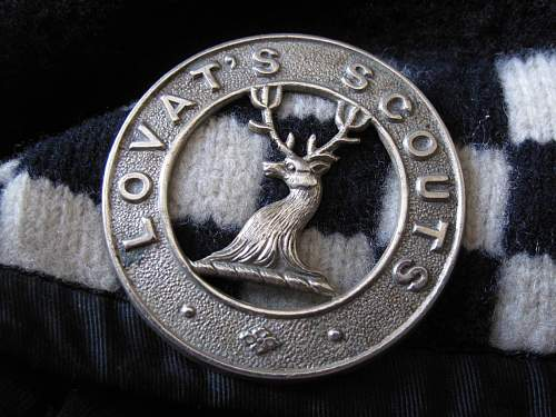 Click image for larger version.  Name:Caubeen_Lovat_Scouts_Cap_Badge_1.jpg Views:370 Size:204.5 KB ID:551875