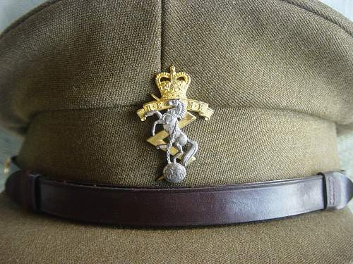 British REME Officers Service Dress cap