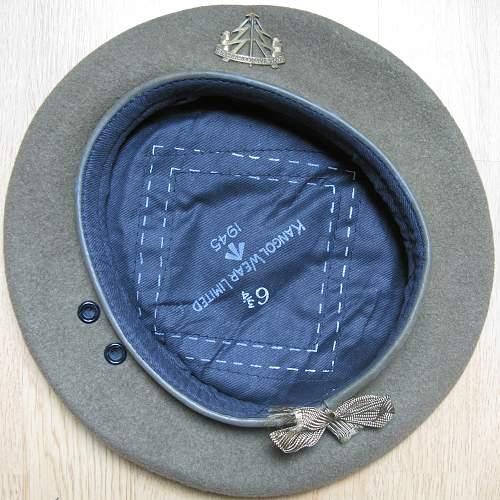 Click image for larger version.  Name:1945 Kangol khaki beret (1).jpg Views:394 Size:225.4 KB ID:607109