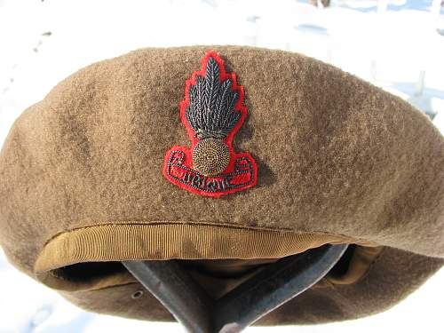 RCA Officers Hat and Officers Beret