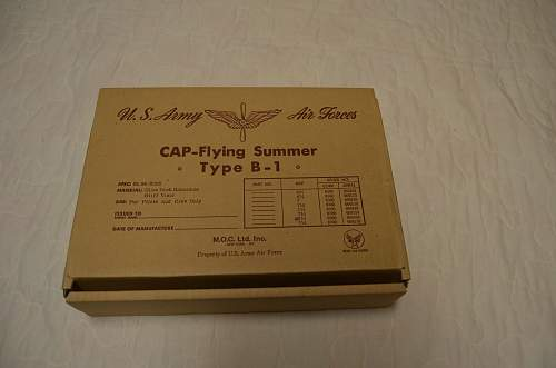 AAF Cap-Fying Summer Type B-1 and Cap Mechanics Type A-3