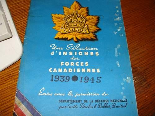 WW2 Canadian officer  visor cap