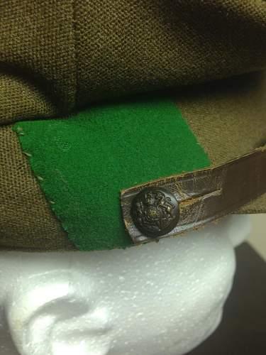 British Visor Cap- Leeds Rifles