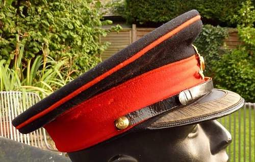 Royal Artillery field officers forage cap circa WWII