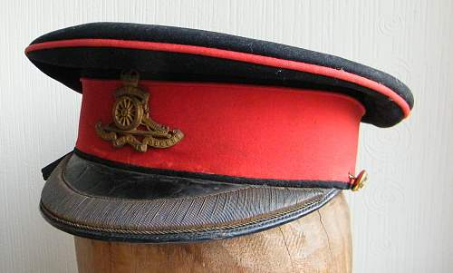 Royal Artillery (Territorial Force) officers forage cap 1908-1917