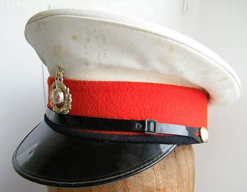 Royal Marines white top visor cap