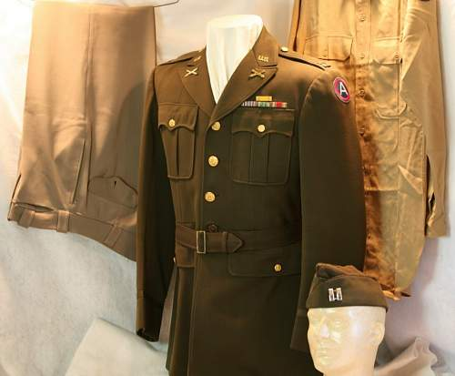 WWII US 3rd ARMY OFFICER'S UNIFORM - What do you think???
