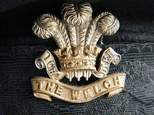 The Welch Regiment officers forage cap