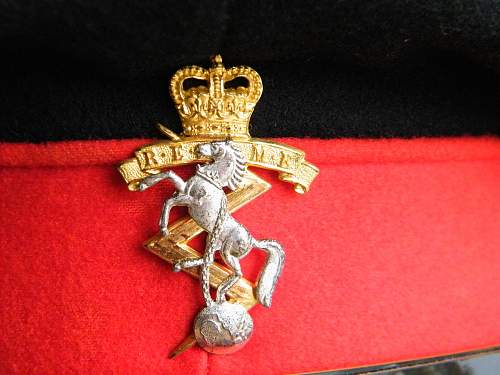 Royal Electrical & Mechanical Engineers Field Officers forage cap