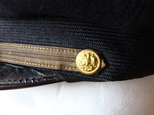 US naval cap for review.