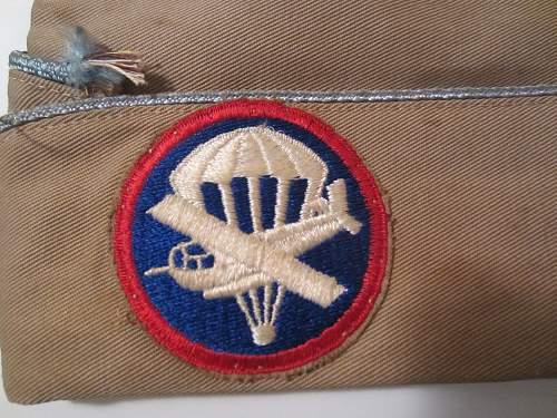 US Glider Borne Paratrooper Infantry Overseas Cap