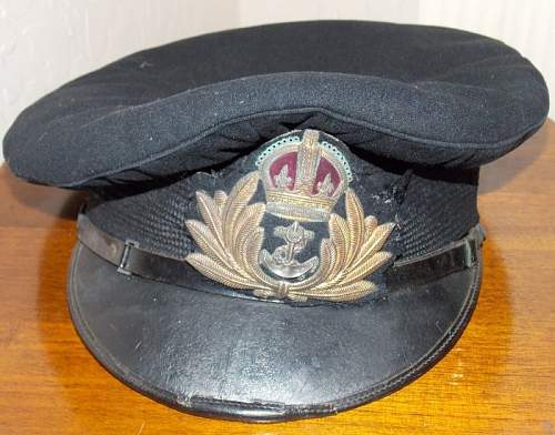 Royal Navy Officer's Cap King's Crown