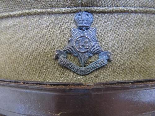 Officer's service cap 14th Punjab Regiment