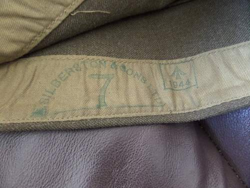 British made 1944 dated US Army service side cap