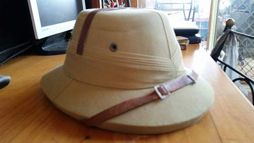 Dating this Indian Commonwealth Pith Hat