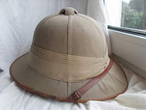 Wolseley sun helmet WW2