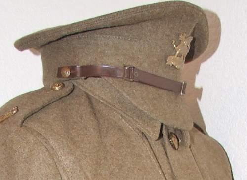Khaki service dress cap