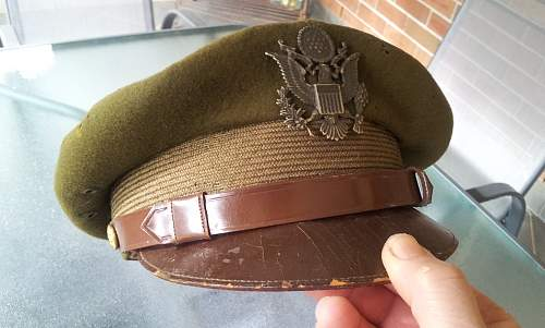 "WW2 USAAF ""crusher"" cap"