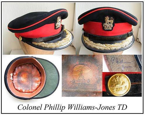 Click image for larger version.  Name:RWF senior officer forage cap Col P Williams Jones mv.jpg Views:184 Size:293.2 KB ID:862066