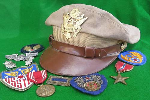 Click image for larger version.  Name:USAAF summer tan officer 'crusher' cap 001.jpg Views:153 Size:135.2 KB ID:874117