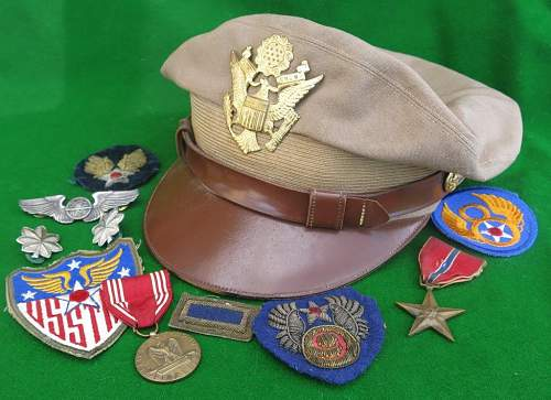 Click image for larger version.  Name:USAAF summer tan officer 'crusher' cap 002.jpg Views:78 Size:128.7 KB ID:874118