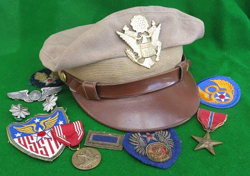 Click image for larger version.  Name:USAAF summer tan officer 'crusher' cap 003.jpg Views:49 Size:141.5 KB ID:874119