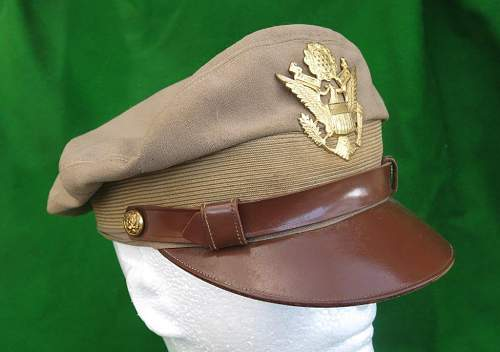 Click image for larger version.  Name:USAAF summer tan officer 'crusher' cap 007.jpg Views:29 Size:85.1 KB ID:874123