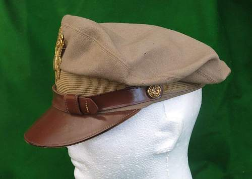 Click image for larger version.  Name:USAAF summer tan officer 'crusher' cap 009.jpg Views:27 Size:88.5 KB ID:874125