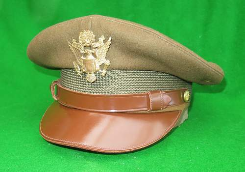 Click image for larger version.  Name:US WW2 Officer crusher cap 001.jpg Views:140 Size:221.5 KB ID:876323