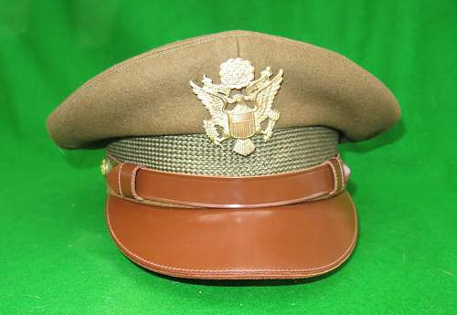 Click image for larger version.  Name:US WW2 Officer crusher cap 004.jpg Views:38 Size:218.0 KB ID:876326