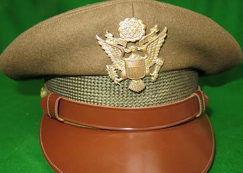Click image for larger version.  Name:US WW2 Officer crusher cap 005.jpg Views:50 Size:224.6 KB ID:876327