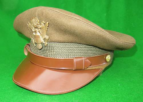 Click image for larger version.  Name:US WW2 Officer crusher cap 008.jpg Views:39 Size:225.6 KB ID:876330