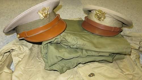 WW2 US Officer visor cap
