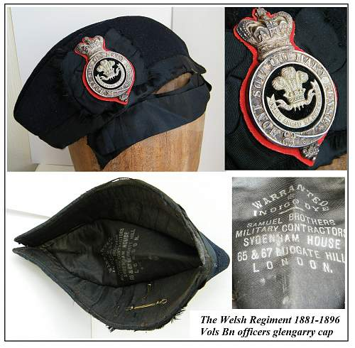 Click image for larger version.  Name:Welsh regiment VB officers glengarry 1881 to 1896 montage vs.jpg Views:17 Size:280.4 KB ID:878220