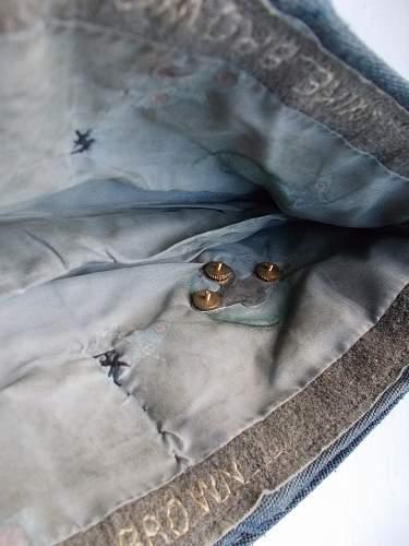 RAF named officers Chip bag cap