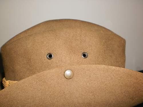 slouch hats  green broen eyelets